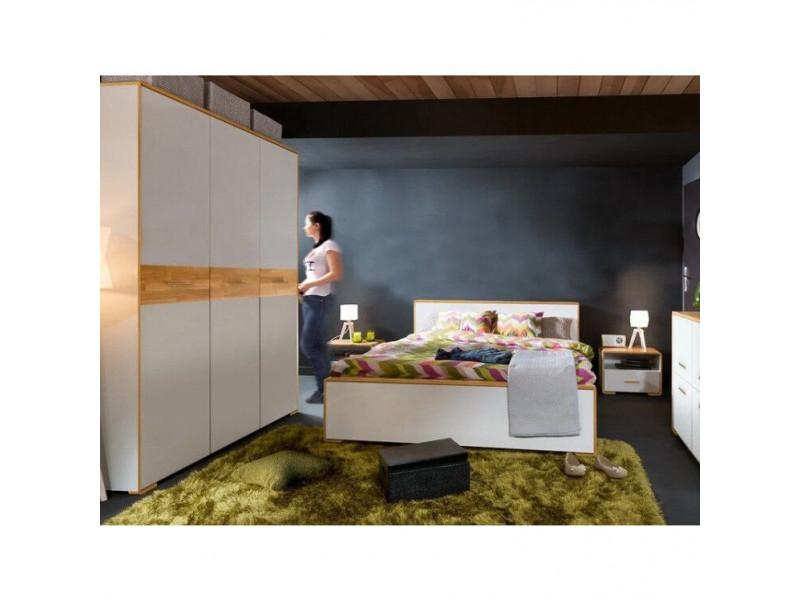 Ліжко Gerbor Бука LOZ 160 | 160x200/Німфея альба/Дуб Артізан