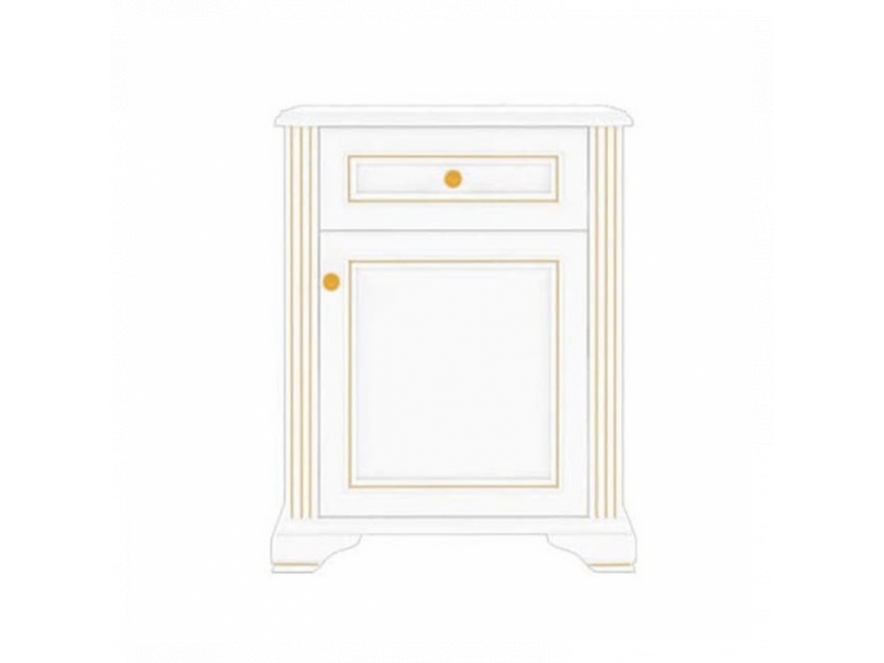 Комод Gerbor Вайт 1D1S СН | Сосна золота