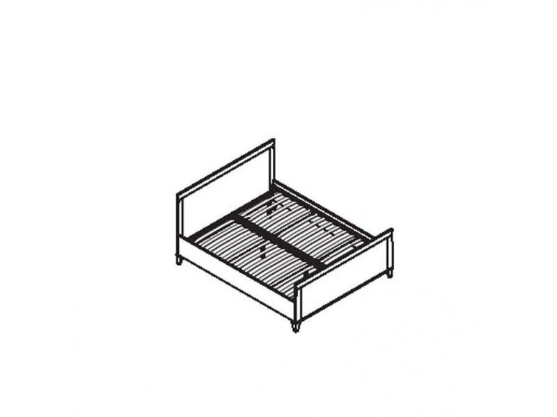 Ліжко Gerbor Граф LOZ/160 | 160x200/Аляска