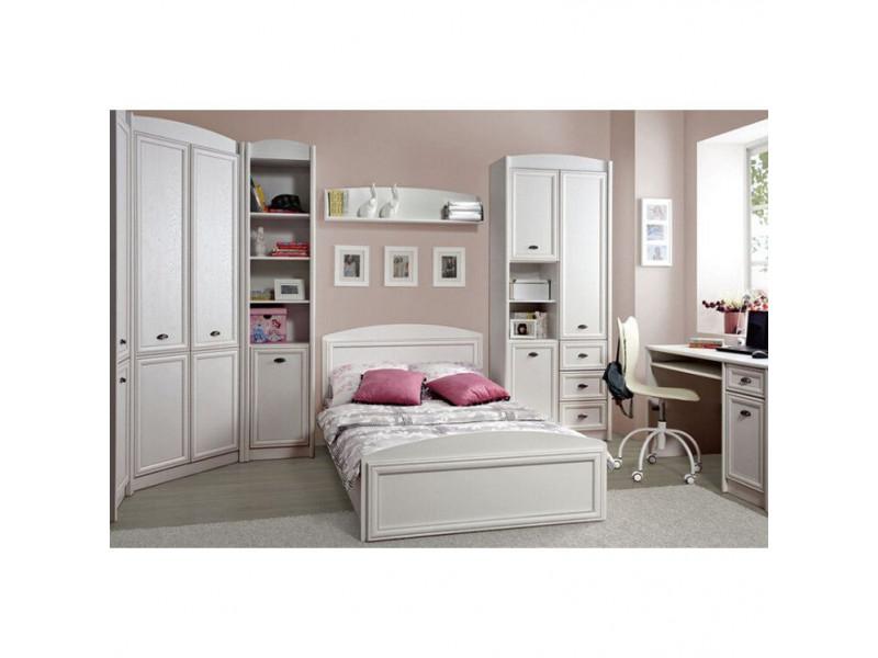 Ліжко Gerbor Салерно LOZ120 (каркас) | 120х200 / Білий