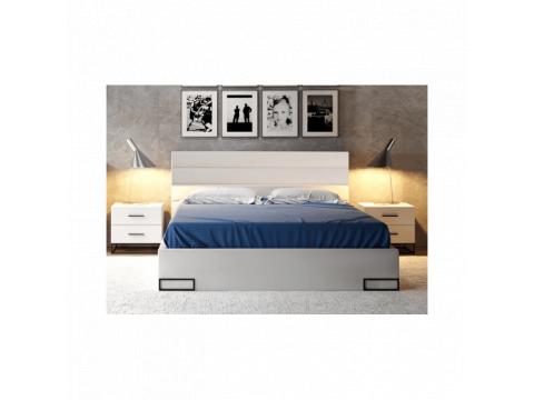 Ліжко Gerbor Мерс ДСП LOZ 160 | 160x200/Німфея альба/Чорний