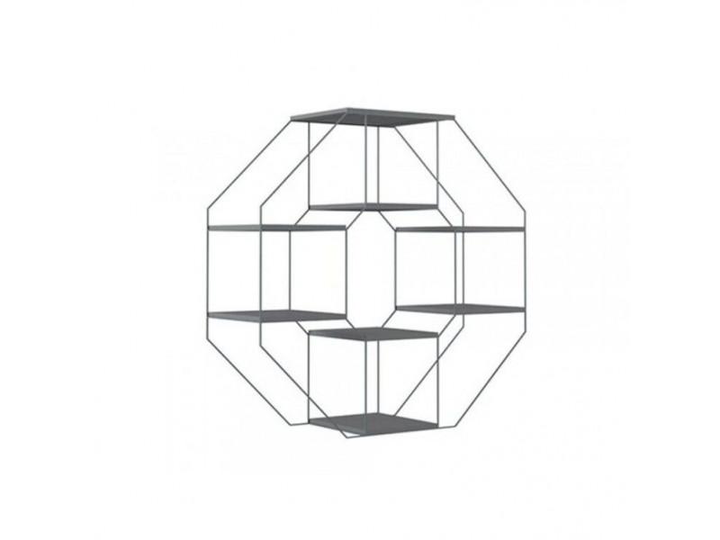Етажерка навісна Gerbor Мерс МДФ SFW/104 | Антрацит/Елегантний сірий софт тач