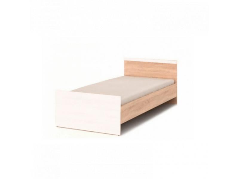 Ліжко Gerbor Мобі 90x200 | Дуб Сонома/Німфея альба