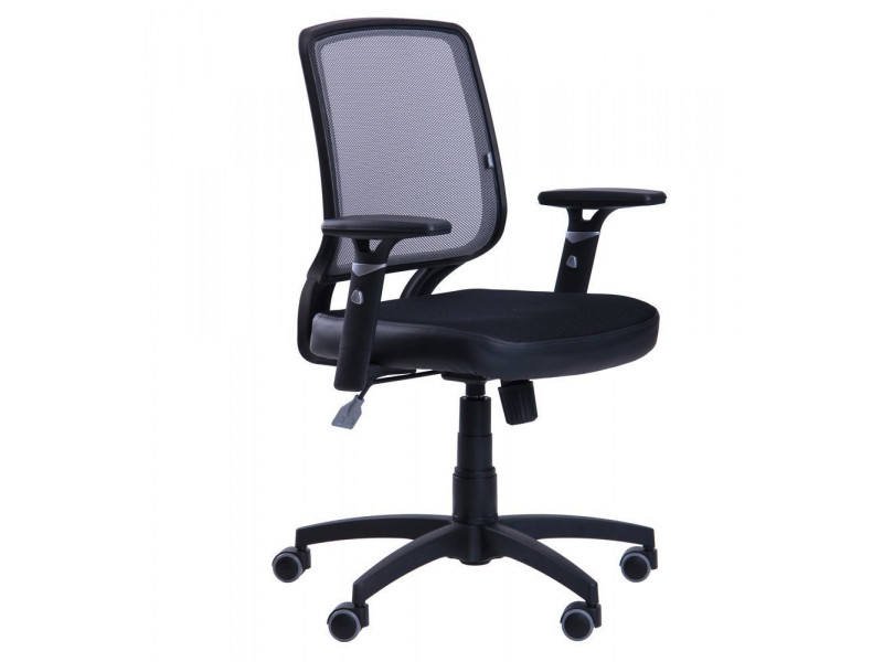 Крісло Онлайн сидіння Сітка чорна / спинка Сітка сіра