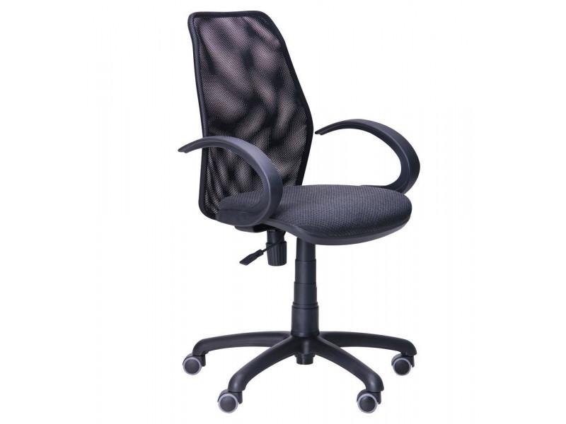 Крісло Oxi / АМФ-5 сидіння Квадро-02 / спинка Сітка чорна