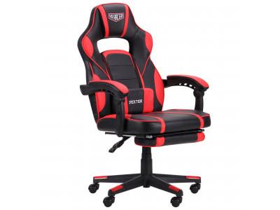 Крісло  VR Racer Dexter Webster черный/красный