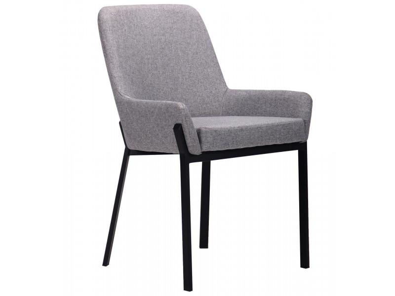 Крісло Charlotte чорний / сірий