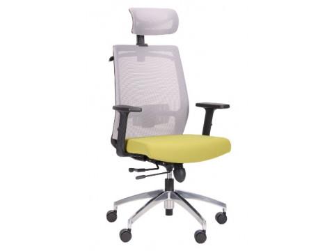 Кресло Install Black Alum Grey/Green