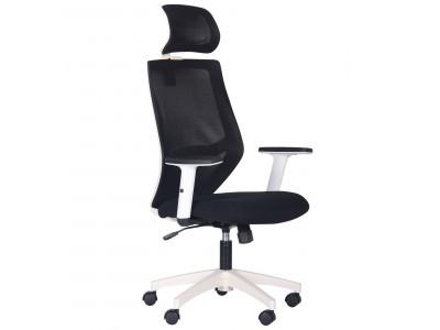 Крісло Lead White HR сидіння Нест-01 чорна / спинка Сітка HY-100 чорна