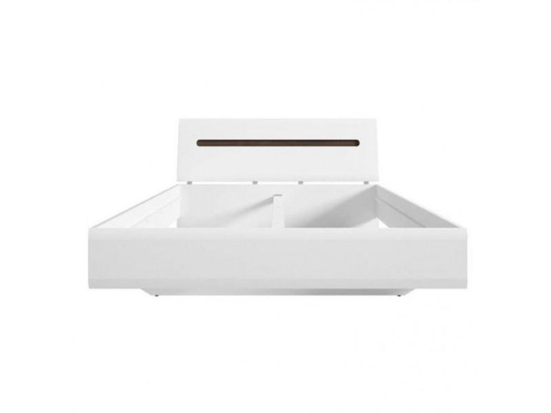 Ліжко BRW Україна Ацтека LOZ/180 (каркас) | Білий / Білий глянець / Венге магія