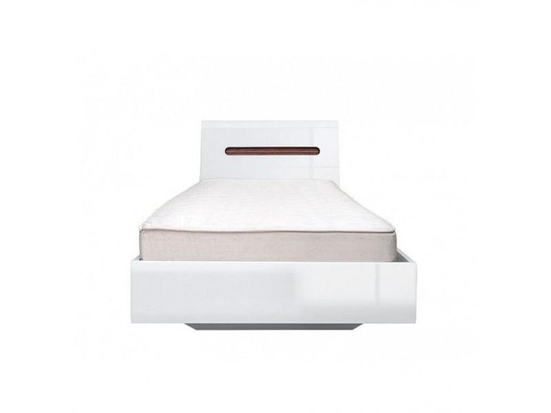 Ліжко BRW Україна Ацтека LOZ/90 (каркас) | Білий / Білий глянець / Венге магія