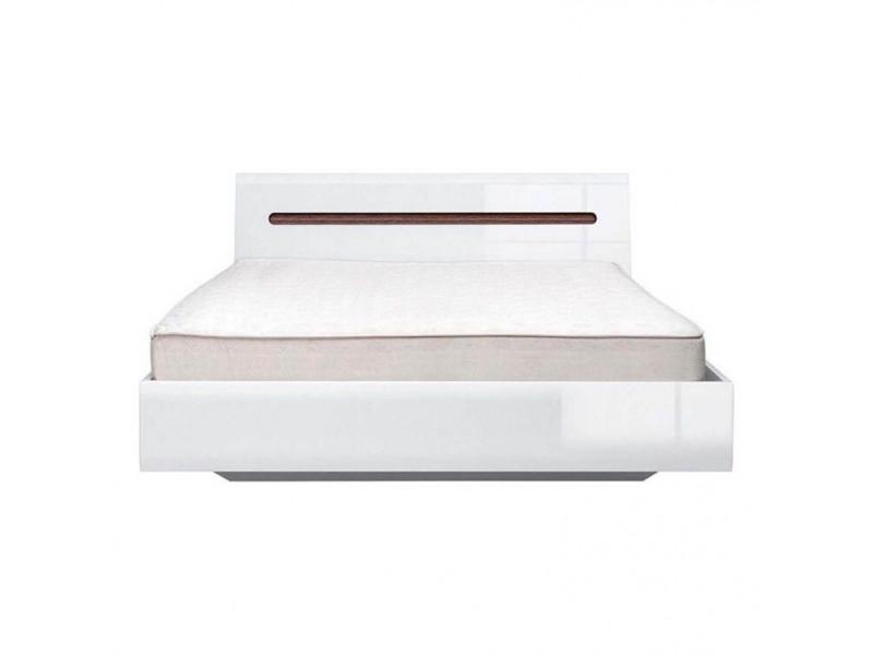 Ліжко BRW Україна Ацтека LOZ / 160 з підйомним механізмом | Білий / Білий глянець / Венге магія