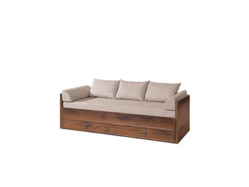 Ліжко розсувне BRW Україна Індіана JLOZ_80/160 + матрац + подушки   150х200/Дуб шуттер