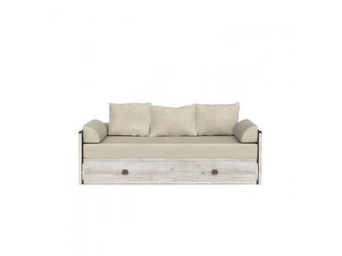 Ліжко розсувне BRW Україна Індіана JLOZ_80 / 160 + матрац + подушки | 150х200 / Сосна каньйон