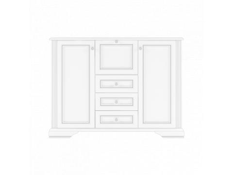 Комод Gerbor Вайт 2W3S1B | Ясен сніжний / Сосна срібна