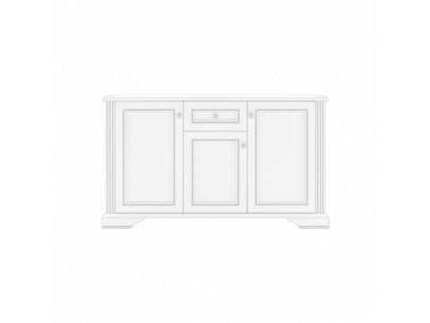 Комод Gerbor Вайт 3D1S | Ясен сніжний / Сосна срібна