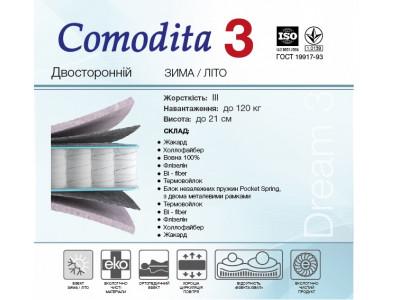 Матрац Comodita 3 Нью Покет (80x190 см)