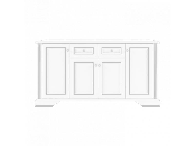 Комод Gerbor Вайт 4D2S | Ясен сніжний / Сосна срібна