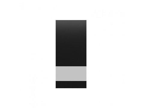 Фасад-вітрина несиметрична для тумби Gerbor Ваго ВПр/НЛВ 94/188 | Чорний (праве відкривання)