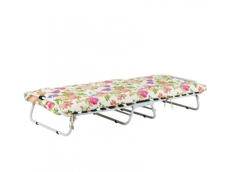"""Ліжко на ламелях"" d25мм (Бязь Квіти)"