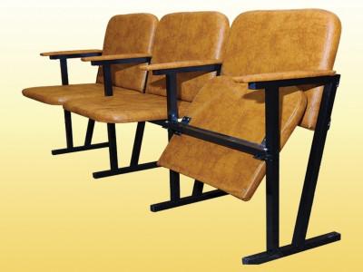 Крісло для актового залу, м'яке, 3-місне. 0233
