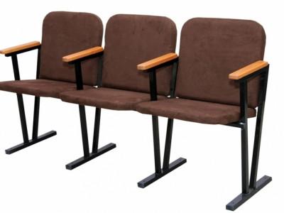 Крісло для актового залу, м'яке, 3-місне.