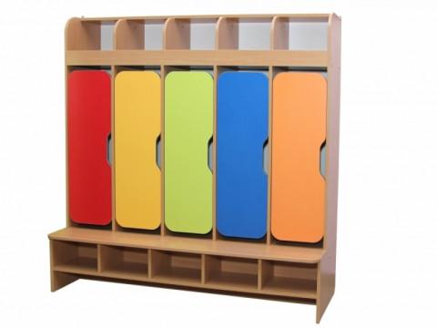 Шкаф детский 5-местная с фигурными дверями 32993