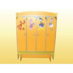 Шкаф 4-дверный для раздевалки 36031
