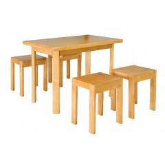 Стол кухонный + 2 табурета Олимп
