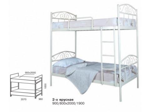Ліжко Эліс Люкс двох'ярусна